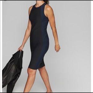 Athleta Black Blue En Route Stretchy Scuba Dress